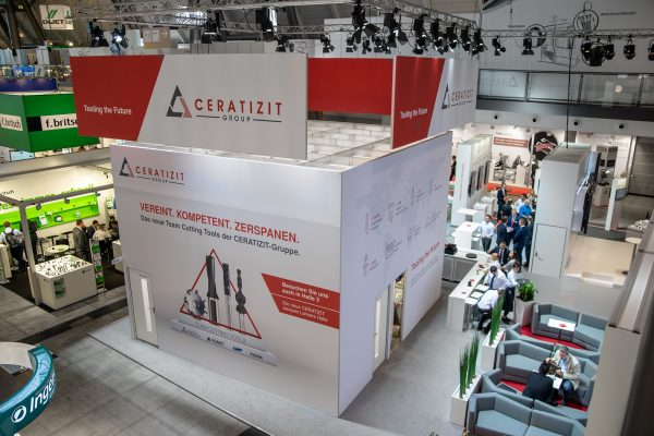 Messestand Planung für Ceratizit Group